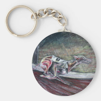Greyhound, racing art for sports and dog lovers. basic round button keychain