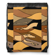 Greyhound Racing Dog Abstract Art Backpack