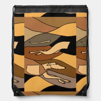 Greyhound Racing Dog Abstract Art Backpack