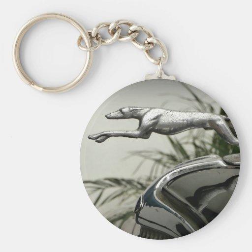 Greyhound Radiator Cap Keychains
