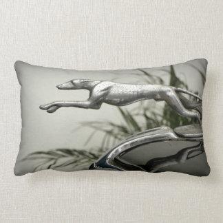 Greyhound Radiator Cap Lumbar Pillow