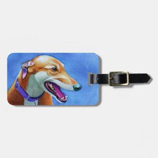 Greyhound Rescue Dog Luggage Tag