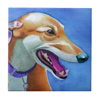 Greyhound Rescue Small Square Tile