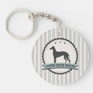 Greyhound Retired Racer 45 mph Lazy Dog Keychain