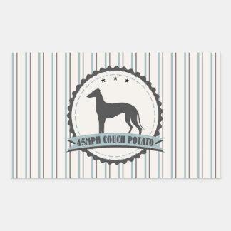 Greyhound Retired Racer 45 mph Lazy Dog Rectangular Sticker