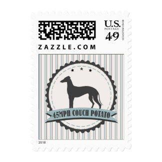Greyhound Retired Racer 45mph Lazy Dog Postage