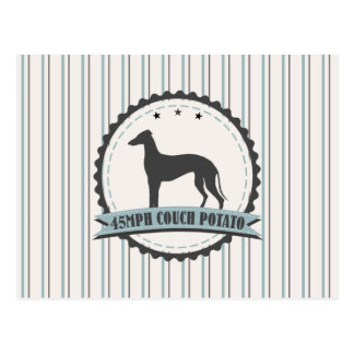 Greyhound Retired Racer 45mph Lazy Dog Post Cards