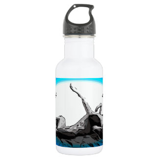 Greyhound Roach - Life's Greyter Upside Down Stainless Steel Water Bottle