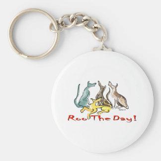 greyhound roo keychain