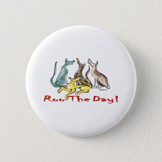 greyhound roo pinback button