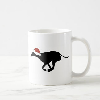 Greyhound Santa Hat Coffee Mug
