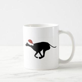 Greyhound Santa Hat Coffee Mug