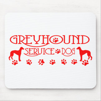 GREYHOUND SERVICE DOG RED MOUSE PAD