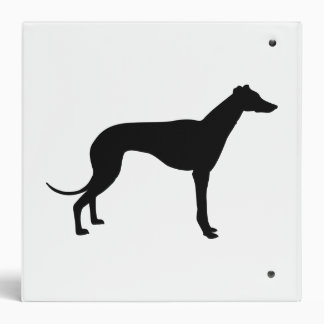 Greyhound Silhouette Binder
