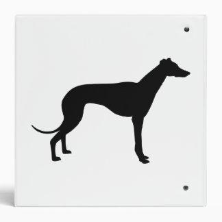 Greyhound Silhouette Binders