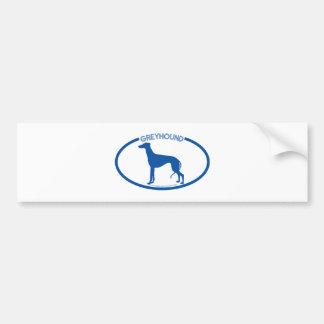 Greyhound Silhouette Bumper Sticker