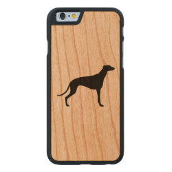 Carved ® iPhone 6 Bumper Wood Case with Greyhound Phone Cases design