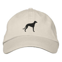 Greyhound Silhouette Embroidered Baseball Hat