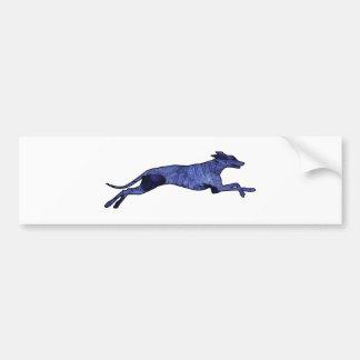 Greyhound Silhouette Fractal Bumper Sticker