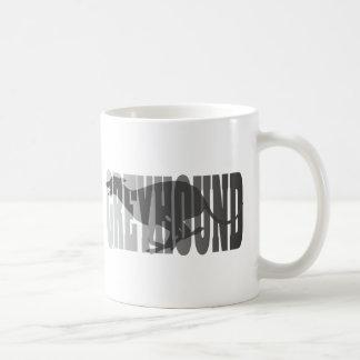 Greyhound Silhouette, Grey Classic White Coffee Mug