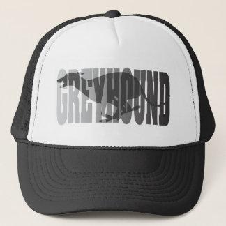 Greyhound Silhouette, Grey Trucker Hat