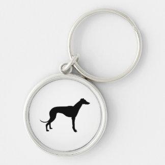 Greyhound Silhouette Key Chains