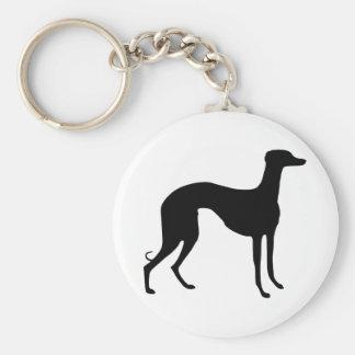 Greyhound Silhouette Keychain