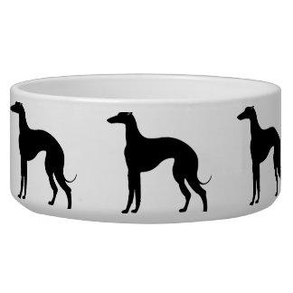 Greyhound Silhouette Dog Water Bowl