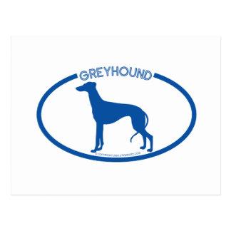 Greyhound Silhouette Postcard