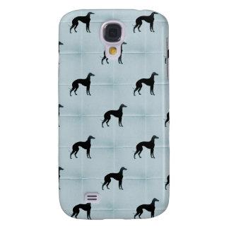 Greyhound Silhouettes Blue Tile Pattern Samsung S4 Case