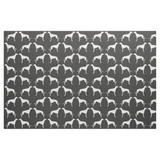 Greyhound Silhouettes Pattern Fabric