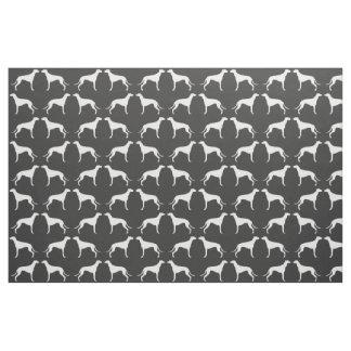 Greyhound Silhouettes Pattern Fabric