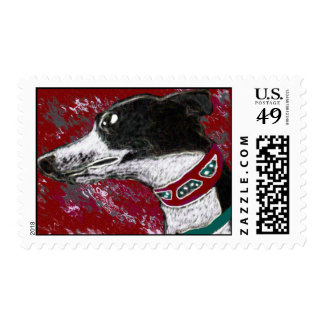 greyhound stamp