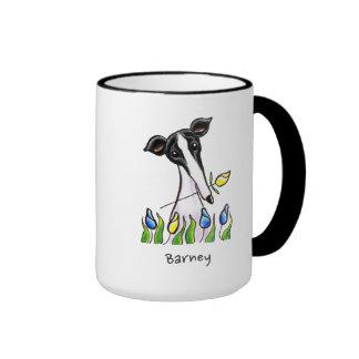 Greyhound Sweetheart Personalized Ringer Mug