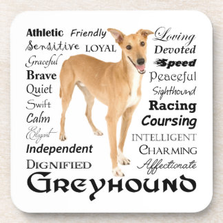 Greyhound Traits Coaster Set