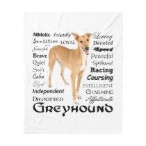 Greyhound Traits Fleece Blanket