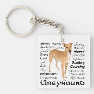 Greyhound Traits Keychain