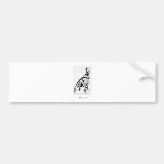 Greyhound Trotter Bumper Sticker