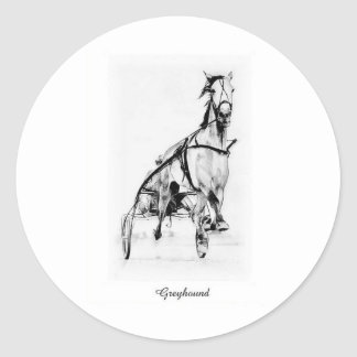 Greyhound Trotter Classic Round Sticker