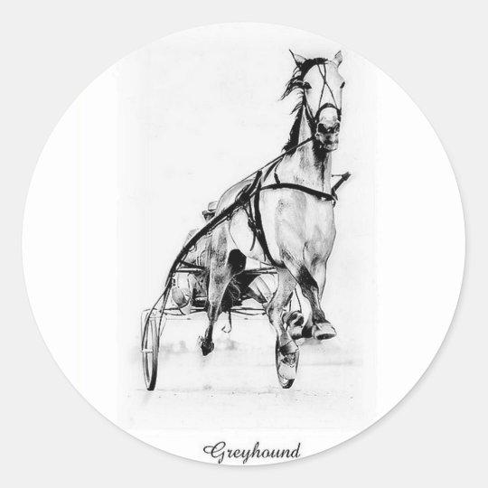 Greyhound Trotter Classic Round Sticker