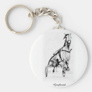 Greyhound Trotter Keychain