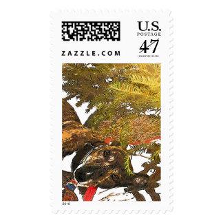 Greyhound under the Christmas tree 47 cent stamp