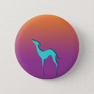 Greyhound/Whippet blue orange violet Button