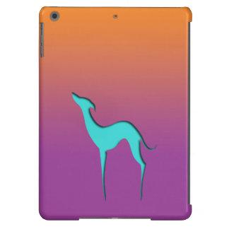 Greyhound/Whippet blue orange violet iPad Air case