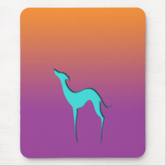Greyhound/Whippet blue orange violet Mousepad