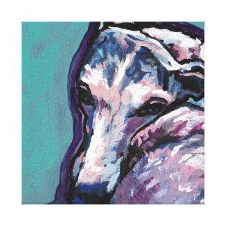 greyhound whippet dog pop art canvas print