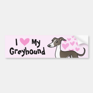 Greyhound / Whippet / Italian Greyhound Love Bumper Sticker