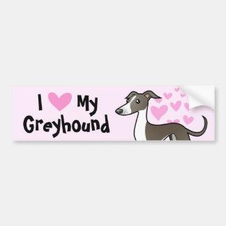 Greyhound / Whippet / Italian Greyhound Love Car Bumper Sticker