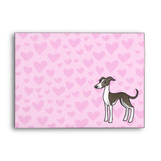 Greyhound / Whippet / Italian Greyhound Love Envelopes