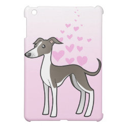 Case Savvy iPad Mini Glossy Finish Case with Greyhound Phone Cases design